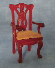 Mahogany Carver Chair, Dolls House Miniature Furniture 1.12 Scale Size