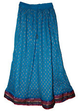 Rayon Ethnic Skirt Indian Gypsy Retro Jupe Rok Rock Vtg Falda Kjol