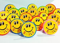 SMiLE lot of 100 happy Smiley Face rings carnival prize Birthday Party Favor NEW