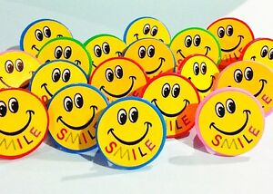 lot of 100 happy Smiley Smile Face rings carnival vending prize Party Jewelry