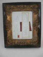 After Picasso - Study for L'atelier Oil Painting Modern Cubism Gold Framed
