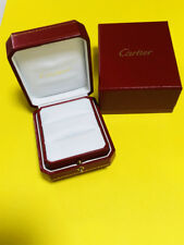 Cartier Ring Box Double Case Red White Display Presentation Ribbon Authentic