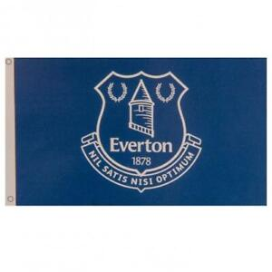 Everton FC Official Crested Large Flag  (5ft x 3ft) With Metal Eyelets Toffees