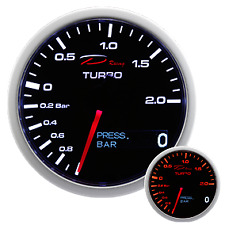 RELOJ DEPO RACING 2 EN 1 SERIE TURBO+PRESION ACEITE 60MM BOOST+OIL PRESS GAUGE