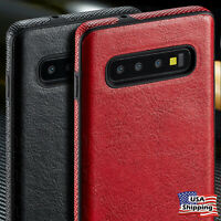 THIN Luxury Leather Ultra Slim TPU Case Cover for Samsung Galaxy S10/S9/S8+ Plus