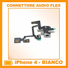 IPHONE 4 CAVO FLAT FLEX CONNETTORE JACK AUDIO TASTO VOLUME MUTE BIANCO