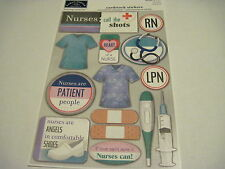 Scrapbooking Crafts Karen Foster Stickers Nurses Shots Thermometer Clothes RN