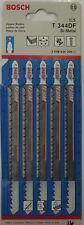 """Bosch T344DF 6"""" 6 TPI Bi-Metal Bosch Shank Jigsaw Blade 5 Pack Swiss"""