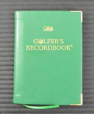 Letts of London Green Leather Golf Record Book w/ Rules Swing Tips Game Tracker