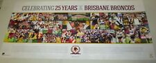 Brisbane Broncos 25th Year Anniversary Poster - Official NRL : Limited Edition