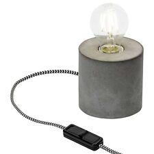 Brilliant LED Tischleuchte Yorkshire Beton grau Schalter E27 Lampe Leuchte Rund