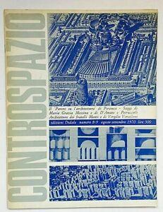 Controspazio n. 8-9 1970 Dedalo Rivista Architettura Vercelloni Piranesi