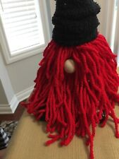 Gnomes~Medium Sock Gnome Handmade Black And Red (New)