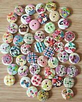 Job Lot 50pcs Assorted Buttons Size 15mm