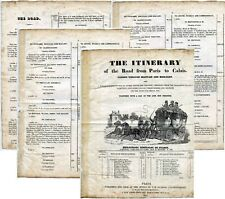 More details for 1835 illustrated mailcoach itinerary france beauvais boulogne calais in english