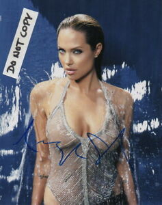 Angelina Jolie BUSTY Autographed Signed 8 X 10 Photo