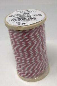 Sugar Paper Twine Decorative Ribbon 45 Feet Red And White Gift Wrapping New