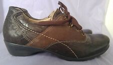 NWOB DROMEDARIS Women's Brown Leather/Suede Lace Up Shoes EU 41 US 9