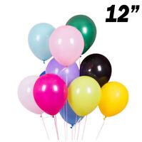 "12"" 10-100 Plain LATEX BALLOONS Helium Party, Birthday,Wedding, Christening"