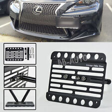 For 14-Up Lexus IS250 No PDC Front Bumper Tow Hook License Plate Bracket Holder