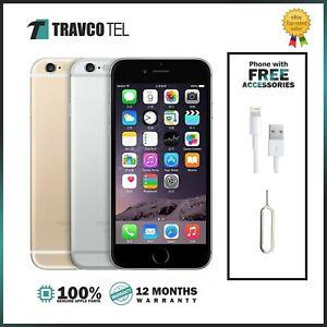 ⭐⭐ Apple iPhone 6 16GB 32GB 64GB  Space Grey Silver Gold Unlocked Smartphone ⭐⭐