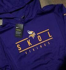 Minnesota Vikings SKOL Nike NFL On-Field Sweatshirt Hoodie Pullover $125 Mens XL