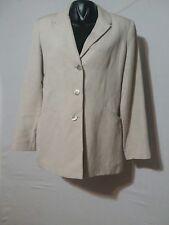 Vintage Express Compagnie Internationale WOMAN'S  Beige Blazer. Size 9/10...