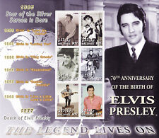Elvis Presley The Legend Lives on (1956-1968) UMM Stamp Sheet (Maldives)