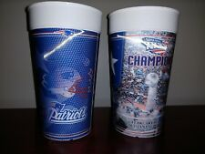 New England Patriots - Two Super Bowl XXXVI Champions 2002 Holographic Cups