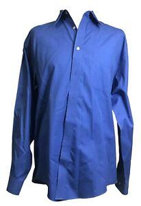 Joseph & Feiss Men's Non Iron Button Up Shirt Blue Color Size 16.5-34/35