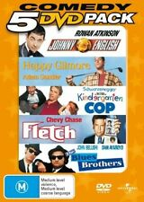 Johnny English + Happy Gilmore + Kindergarten Cop + Fletch + Blues Brothers DVD