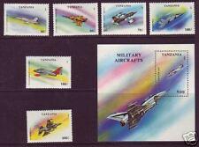 Tanzania Sc 1160-1167 Mnh. 1994 Aircraft, cplt set incl. S/S, Vf