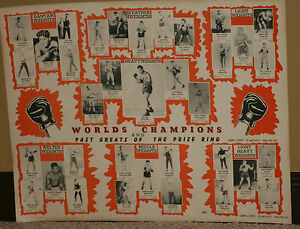 """1940's World's Champions & Past Greats of Boxing, Orig. Lg Version , 22"""" x 30"""""""