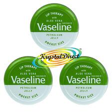 Vaseline Lip Therapy Aloe Vera Green Tin 20g x 3