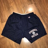 RARE Vtg 80s 90s Champion VIRGINIA CAVALIERS Soccer Team Shorts NYLON Mens LARGE