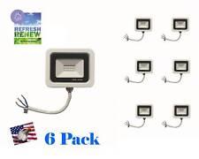 iLett 6  Pack White Shield LED Flood Light 10W 110V 800lm Ultra Slim 6500K