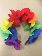 Hawaiian Luau Beach Pool Party 1x Leis Flower Headband Favours Rainbow Lei Head