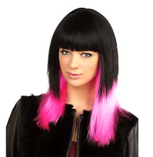 Black Pink Dipped Wig SAME Day D. Jessie Style Shoulder L. Fancy Dress Accessory