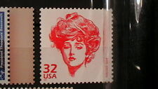 MNH 33c U.S.POSTAGE STAMP GIBSON GIRL  ISSUE    087A4