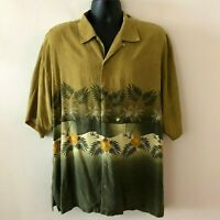 Tommy Bahama Hawaiian Camp Shirt Copyrighted Relax Series Silk Men's XL
