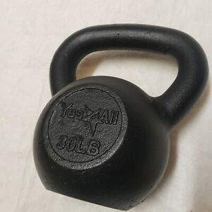 Yes4all 30lb Cast Iron kettlebell 30 pounds of weight for strength training