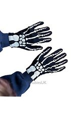 Child Skeleton Gloves Halloween Horror Fancy Dress Accessory