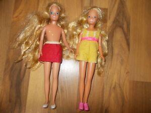 "Vintage 1984 MATTEL Barbie  Long Hair Skipper Doll 9"" 1970's Lot of 2"