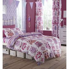 GIRLS SINGLE DUVET COVER SET CATHERINE LANSFIELD 'OWL' BEDDING