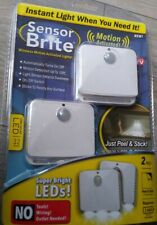 Sensor Brite Motion Activated LED Lights 2 Pack RIPPED PACK