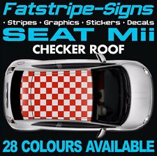SEAT Mii CHECKER ROOF GRAPHICS STRIPES STICKERS DECALS 1.0 SPORT VINYL CITY CAR