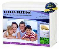 Mattress Cover Queen Size Waterproof Hypoallergenic Bed Bug Protector Dust Mite