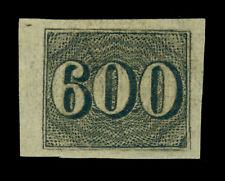 BRAZIL 1850  Numerals  600r black  Sc# 28  mint MH XF OG*