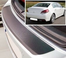 Peugeot 508 Saloon - Carbon Style rear Bumper Protector