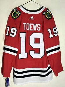 ADIDAS AUTHENTIC ADIZERO NHL JERSEY CHICAGO BLACKHAWKS JONATHAN TOEWS RED SZ 50